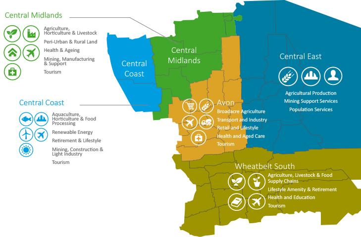 Key Economic Features Map